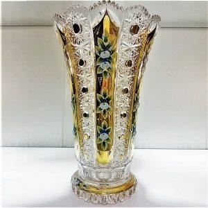 گلدان کریستال طلاکوب