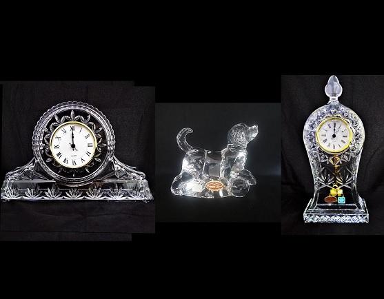 ساعت،مجسمه و زیر سیگاری