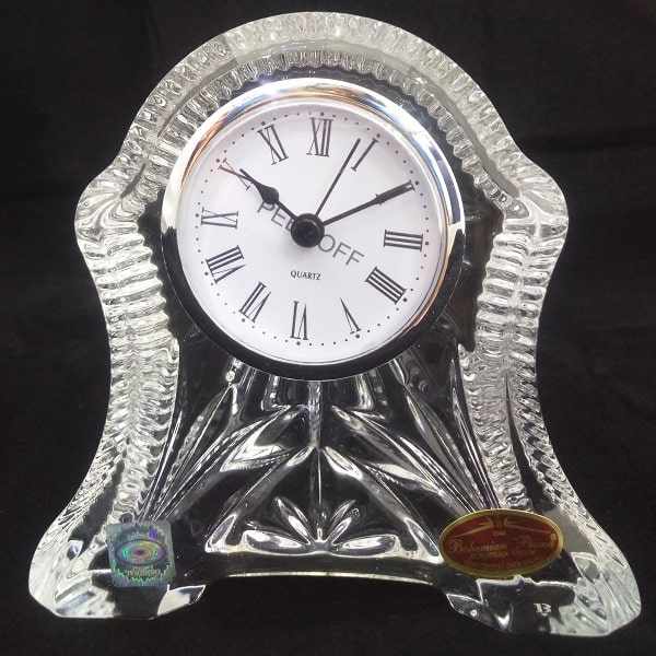 ساعت رومیزی بوهمیا کریستال اصل چک
