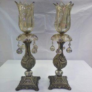 شمعدان شامپاینی ستونی پایه فلزی